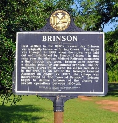 Side 1: Brinson Marker image. Click for full size.