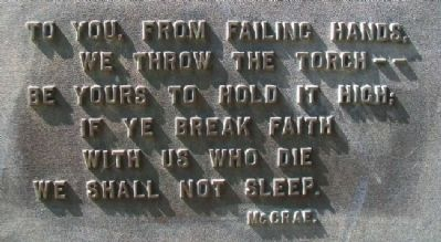World War Memorial Poem image. Click for full size.