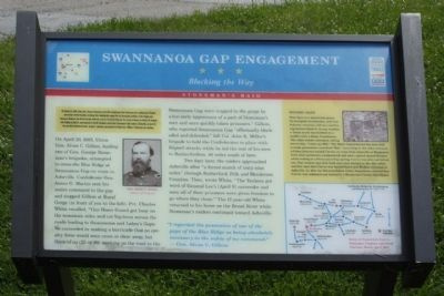 Swannanoa Gap Engagement Marker image. Click for full size.