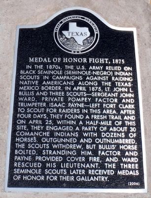 Medal of Honor Fight, 1875 Marker image. Click for full size.