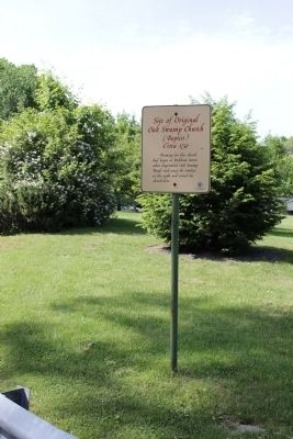 Site of Original Oak Swamp Church (Baptist) Circa 1750 Marker image. Click for full size.