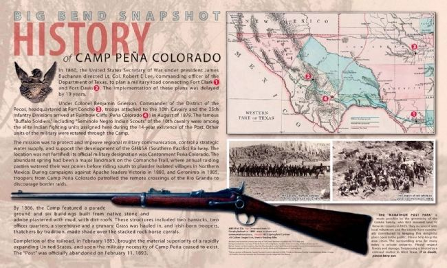 Fort Peña Colorado Interpretive Signage image. Click for full size.