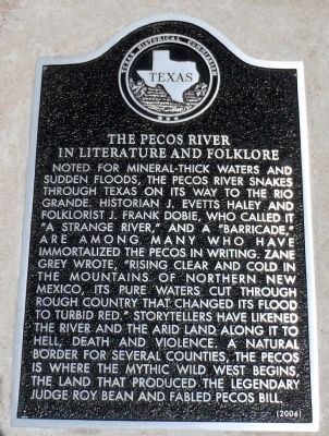 The Pecos River in Literature and Folklore Marker image. Click for full size.