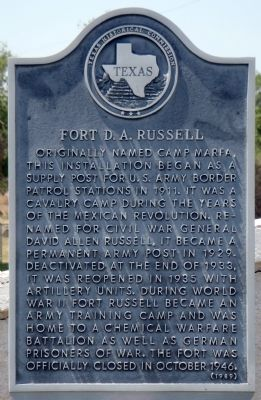 Fort D.A. Russell Marker image. Click for full size.