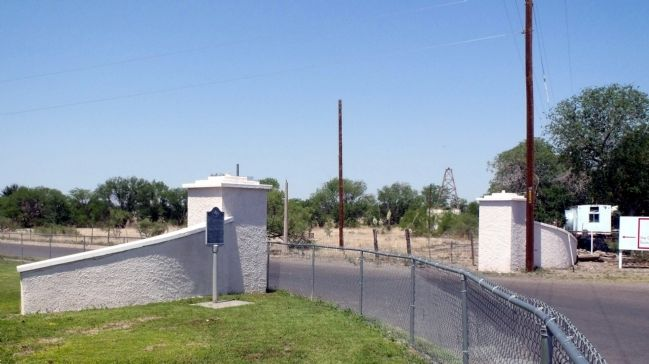 Site of marker at original Fort D.A. Russell entrance gate. image. Click for full size.
