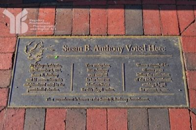 Susan B. Anthony Voted Here Marker image. Click for full size.