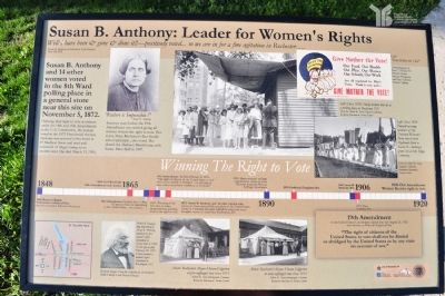 Susan B. Anthony Voted Here Curated Plaque image. Click for full size.