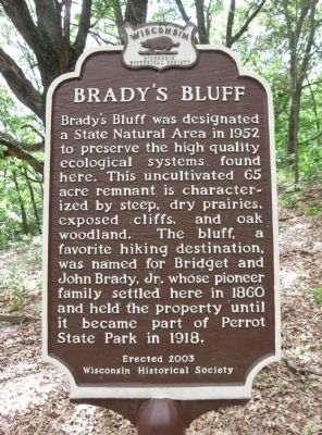 Brady's Bluff Marker image. Click for full size.