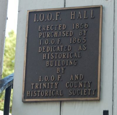 I.O.O.F. Hall Marker image. Click for full size.