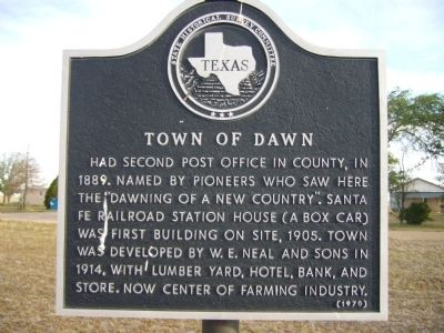 Town of Dawn Marker image. Click for full size.