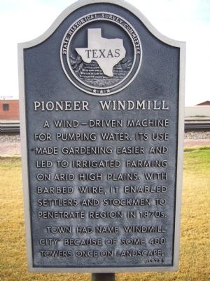 Pioneer Windmill Marker image. Click for full size.