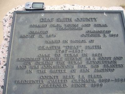 Deaf Smith County Marker image. Click for full size.