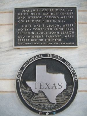 Deaf Smith Courthouse Marker image. Click for full size.