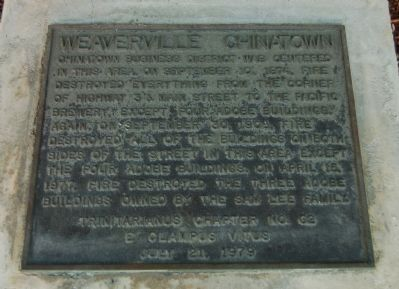 Weaverville Chinatown Marker image. Click for full size.