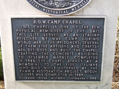 P.O.W. Camp Chapel Marker image. Click for full size.