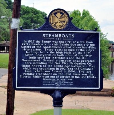 Steamboats Marker, Side 1 image. Click for full size.