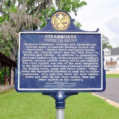 Steamboats Marker, Side 2 image. Click for full size.