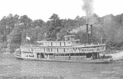 "Steamboat ""John W. Callahan"" on the Flint River at Bainbridge, Georgia image. Click for full size."