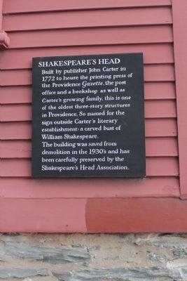 Shakespeare's Head Marker image. Click for full size.