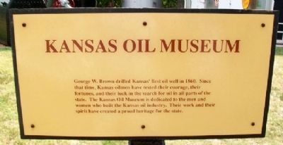 Kansas Oil Museum Marker image. Click for full size.
