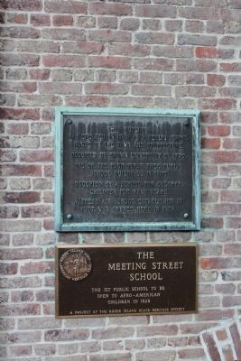 The Meeting Street School Markers image. Click for full size.