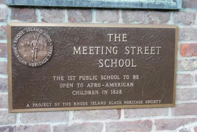 The Meeting Street School Marker image. Click for full size.