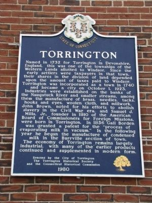 Torrington Marker image. Click for full size.