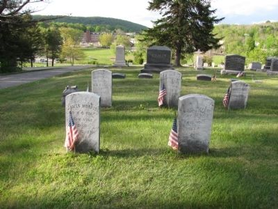 Soldiers' graves image. Click for full size.
