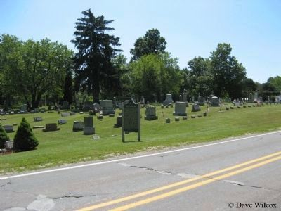 Hamburg / Edwin B. Winans Marker and Hamburg Cemetery image. Click for full size.