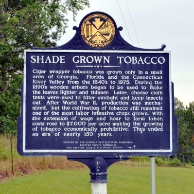 Side 2: Shade Grown Tobacco Marker image. Click for full size.