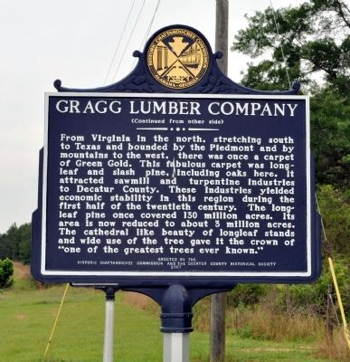 Side 2: Gragg Lumber Company Marker image. Click for full size.