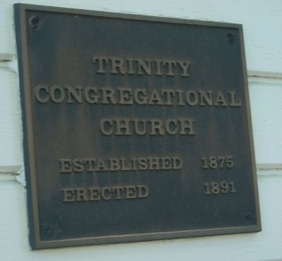 Trinity Congregational Church Marker image. Click for full size.