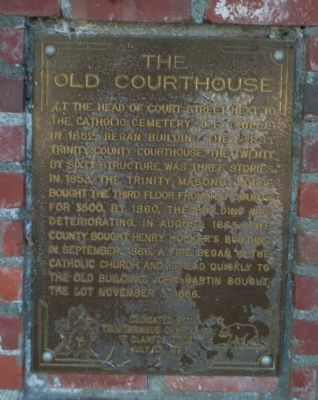 The Old Courthouse Marker image. Click for full size.