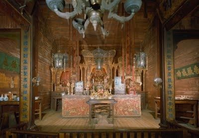 Weaverville Joss House Altar image. Click for full size.