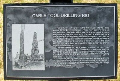 Cable Tool Drilling Rig Marker image. Click for full size.