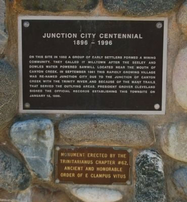 Junction City Centennial Marker image. Click for full size.