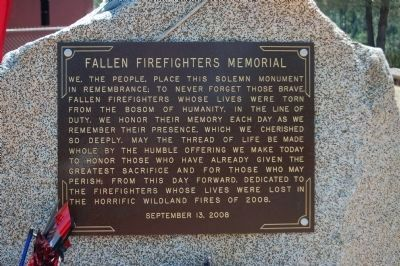 Fallen Firefighters Memorial image. Click for full size.