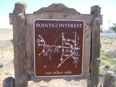<i>Back of</i> Portales Marker image. Click for full size.