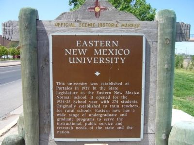 Eastern New Mexico University Marker image. Click for full size.