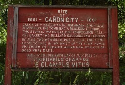 Site of Cañon City Marker image. Click for full size.