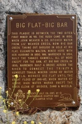 Big Flat – Big Bar Marker image. Click for full size.