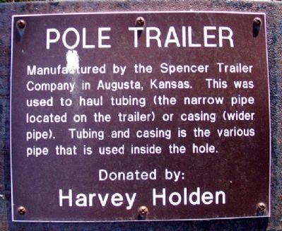 Pole Trailer Marker image. Click for full size.