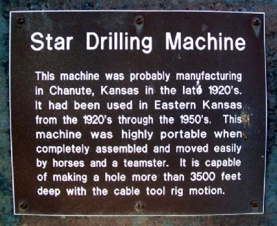 Star Drilling Machine Marker image. Click for full size.