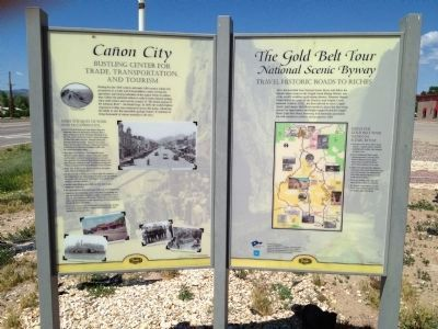 Cañon City / The Gold Belt Tour Marker image. Click for full size.