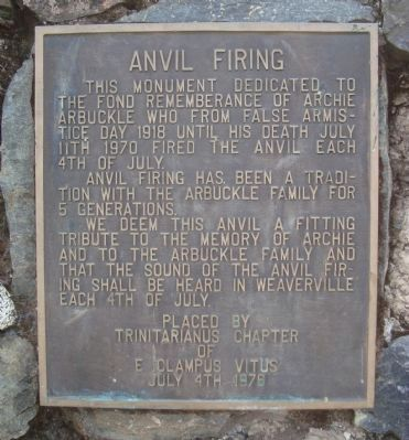 Anvil Firing Marker image. Click for full size.