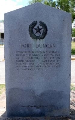 Fort Duncan 1936 Marker image. Click for full size.