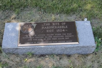The Site of Hardscrabble Riot 1824 Marker image. Click for full size.