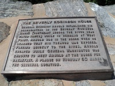 The Beverly Robinson House Marker image. Click for full size.