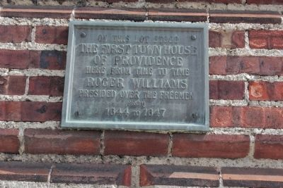 First Town House of Providence Marker image. Click for full size.