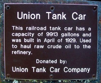 Union Tank Car Marker image. Click for full size.